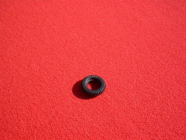 "12mm Black Treaded ""DUNLOP"" for French Dinky Toys with small hubs Tyre (Each)"